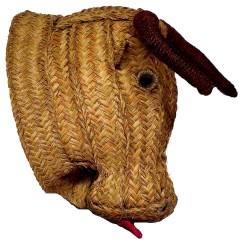 grande tête de taureau trophée