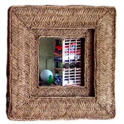 miroir carré avec cadre