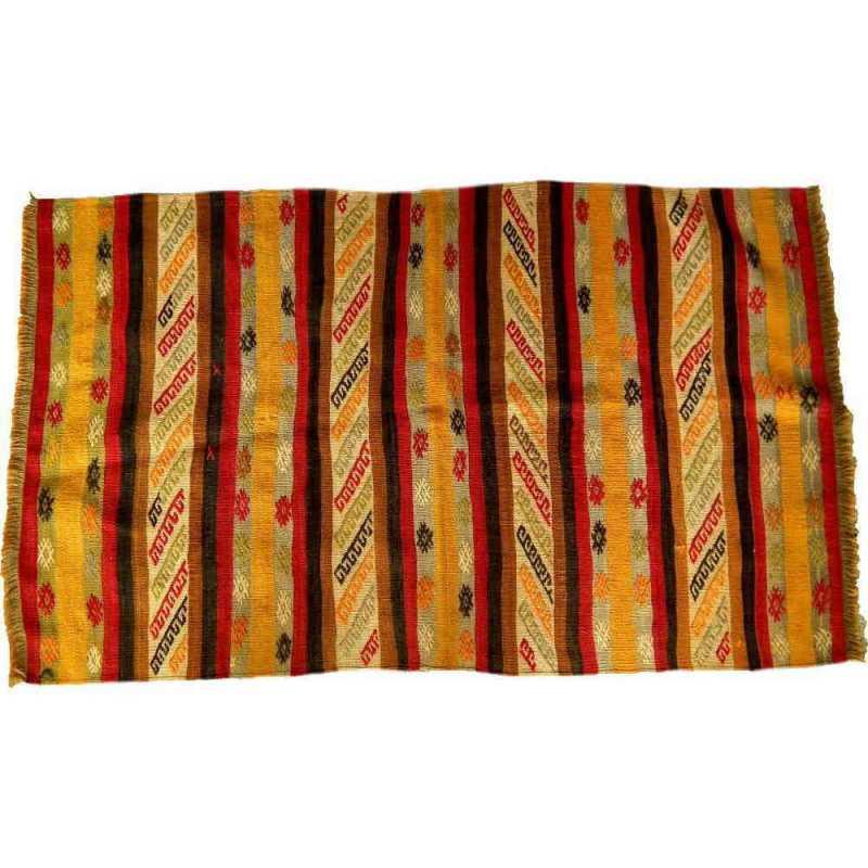 tapis rayé laine