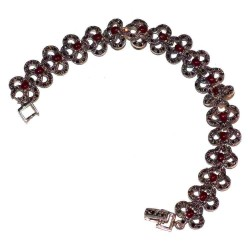 Bracelet en argent et pierre