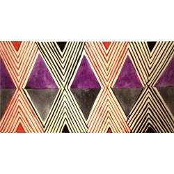 Losange noir et violet :...
