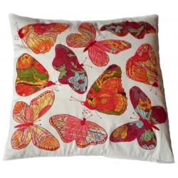 Coussin papillons brodés