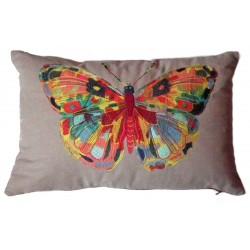 Décor papillon brodé