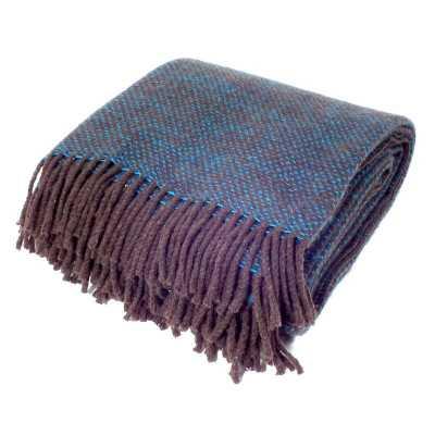 plaid en laine mérinos