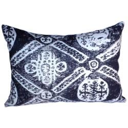 Coussin copte noir et blanc