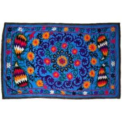 fleur bleue tissu