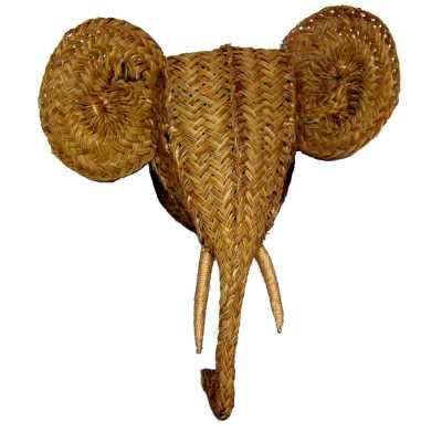 décoration trophée éléphant