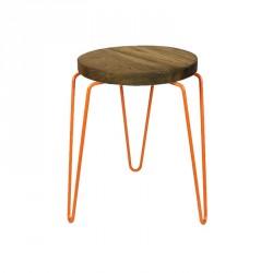 tabouret design bois et métal