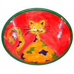 céramique décor chat
