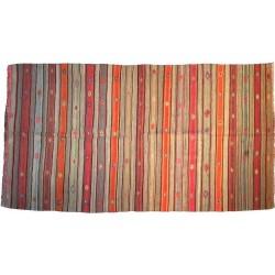 Kilim tapis laine orangee