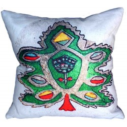 Coussin copte sapin vert