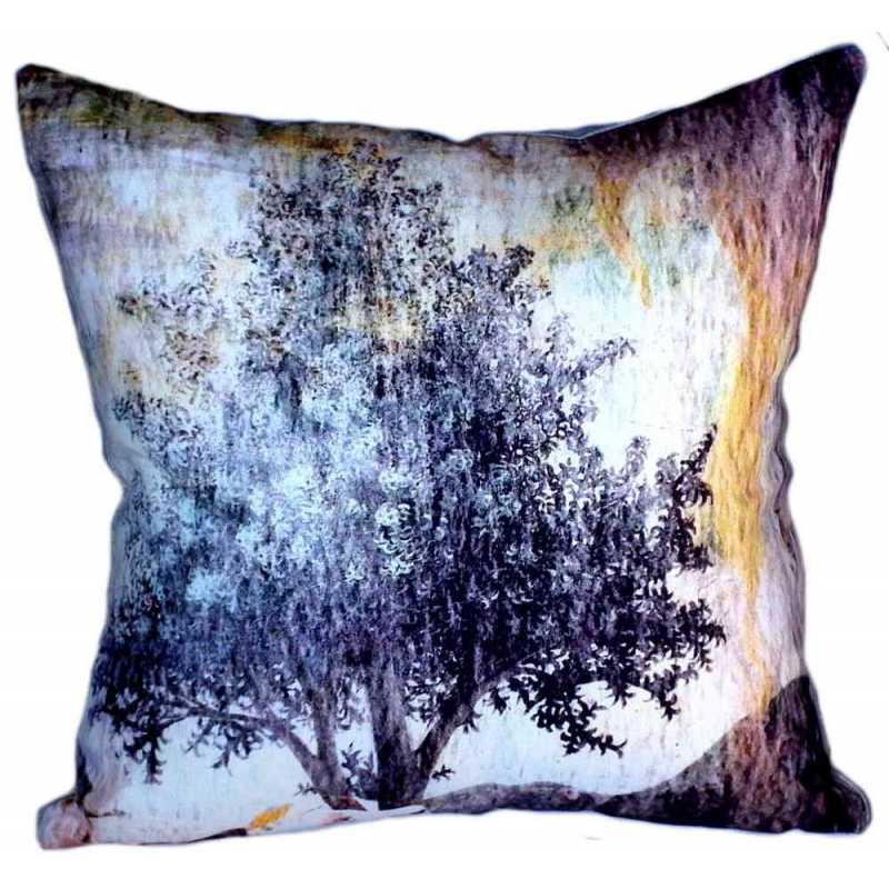 Coussin fresque italienne arbre
