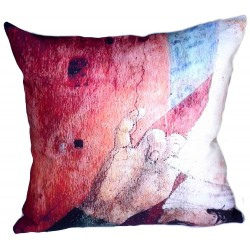 Coussin fresque italienne rouge