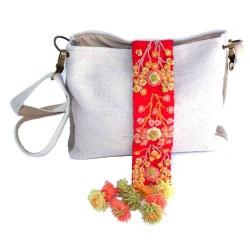 sac à main en laine brodé