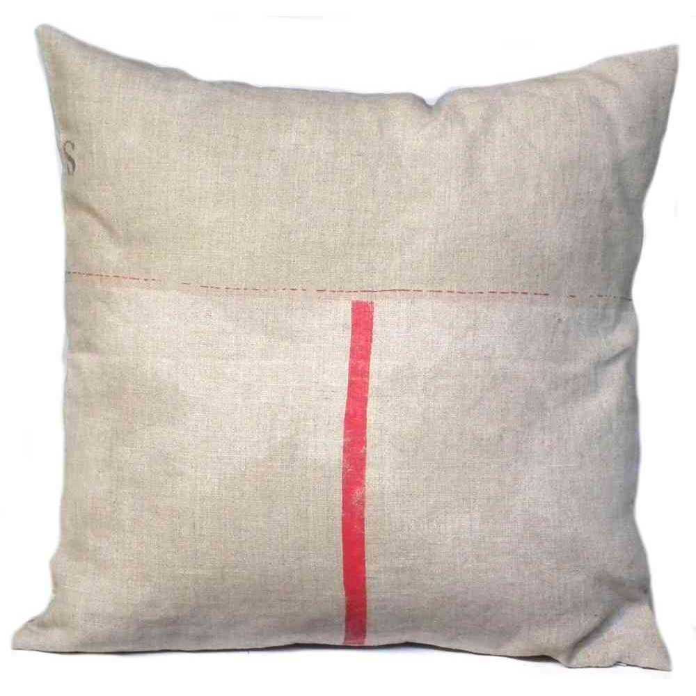 coussin imprim 100 lin motif industriel r versible fermeture clair. Black Bedroom Furniture Sets. Home Design Ideas