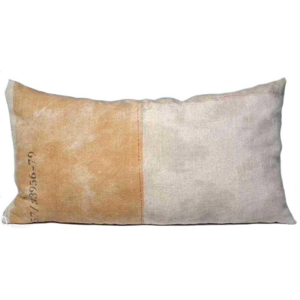 coussin imprim motif industriel r versible 100 lin 70x37 cm. Black Bedroom Furniture Sets. Home Design Ideas