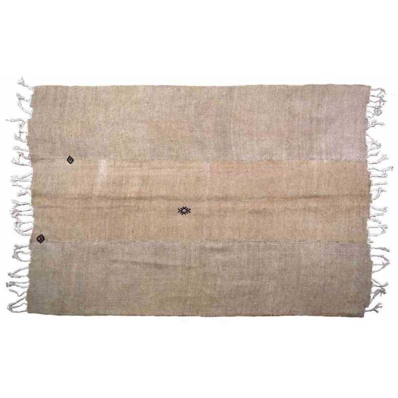tapis chanvre doré
