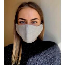 Masque en lin lavable
